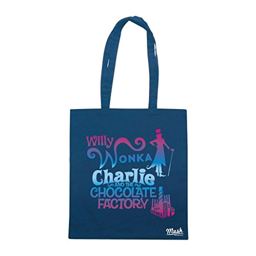Borsa Willy Wonka Charlie And The Chocolate Factory - Blu Navy - Film by Mush Dress Your Style