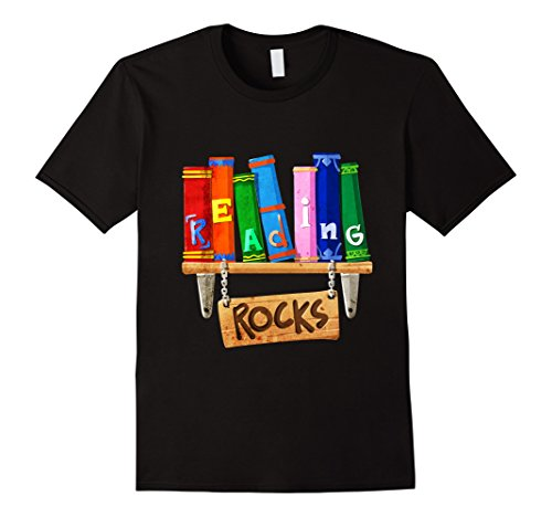 Mens Reading Rocks Love to Read Books Librarians Gift T Shirt 2XL - Clothing Librarian