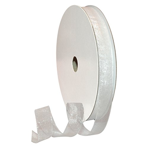 Morex Ribbon 91803/100-601 Organdy Nylon Ribbon, 5/8-Inch by 100-Yard, - White Organdy