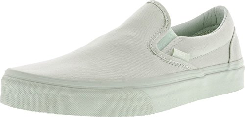Vans Classic Slip-On Mono Canvas Milky Green Ankle-High Skateboarding Shoe - 8M/6.5M