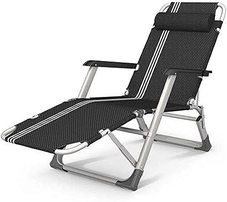 ADHW Reclinable, reclinable Silla al Aire Libre, Plegable Silla de jardín, jardín al Aire Libre Mecedora Silla de Descanso, sillas de Cubierta Interior, con la Almohadilla: Amazon.es: Hogar