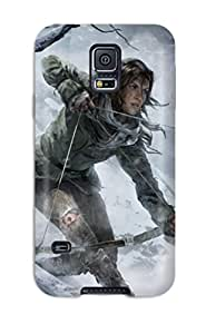 Premium Protection Rise Of The Tomb Raider 2015 Game Case Cover For Galaxy S5- Retail Packaging