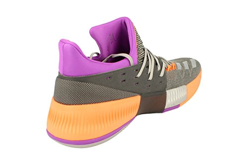 adidas D Lillard 3 Mens Basketball Trainers Sneakers Silver Metallic Orange Bb8270 enjoy cheap price wZnlmd