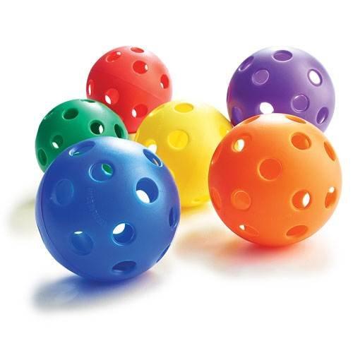 Plastic Play Balls - Baseball Size (Set of 6)