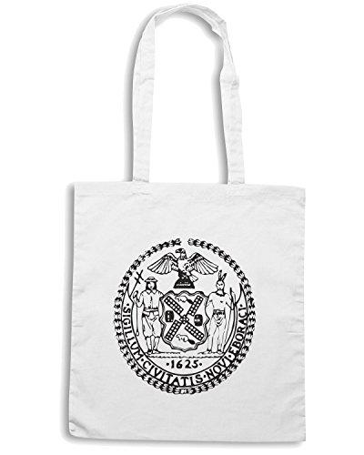 T-Shirtshock - Bolsa para la compra FUN0169 07 04 2012 seal of new york tt detail Blanco