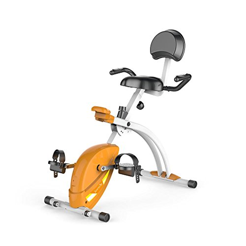 SereneLife Exercise Bike Home/Office Recumbent Exercise Bike - Under Desk Bicycle Pedaling Fitness Machine