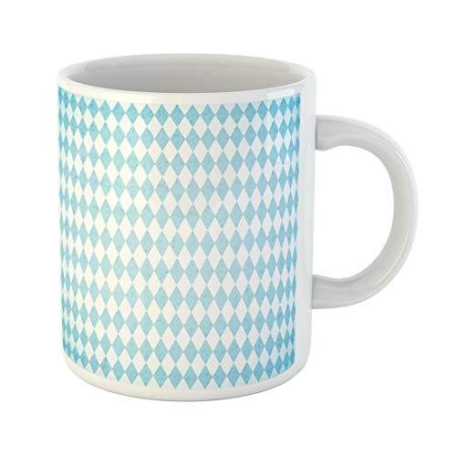 Semtomn Funny Coffee Mug Oktoberfest Blue Geometric Pattern Germany World Biggest Beer Festival 11 Oz Ceramic Coffee Mugs Tea Cup Best Gift Or Souvenir
