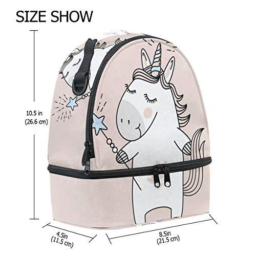 hombro de aislamiento ajustable diseño Bolsa almuerzo correa para Alinlo el unicornio con de con FaxqR