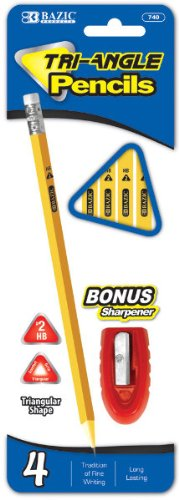 #2 Triangle Yellow Pencil with Sharpener - 4 Pack 144 pcs sku# 1785101MA by DDI
