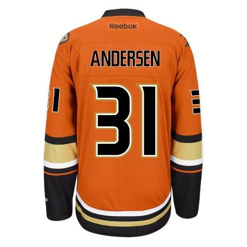 newest 88353 72884 Frederik Andersen Anaheim Ducks Reebok Premier Third Jersey ...