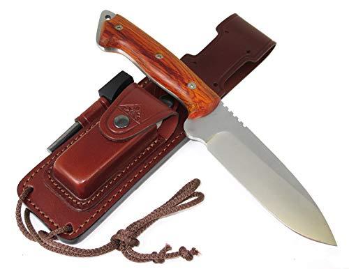 CELTIBERO - Couteau de Camping Randonnée Chasse Outdoor Survie Bushcraft Multifonctionnel, Manche en bois de Cocobolo… 4