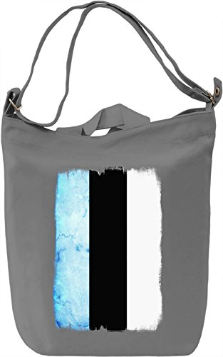 Estonia Flag Borsa Giornaliera Canvas Canvas Day Bag| 100% Premium Cotton Canvas| DTG Printing|