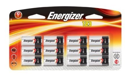 Energizer Photo Battery  Cell Size  123  12 Count