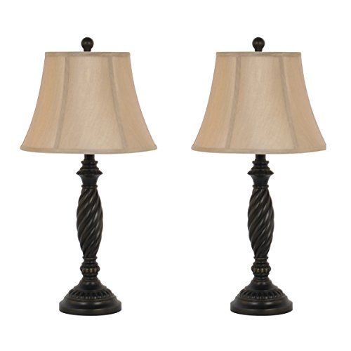 208 Fryar Design Dark Bronze Table Lamp Set, 27