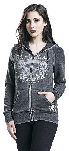 Rock Rebel by EMP Dark Days Chaqueta con capucha Mujer Gris Gris