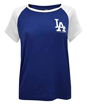 1c4c1f02 New Era Womens MLB Los Angeles Dodgers Scoop Neck Two-Tone T-Shirt ...