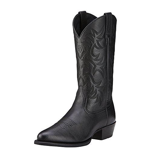 Ariat Men's Heritage Western R Toe Cowboy Boot, Black Deer T
