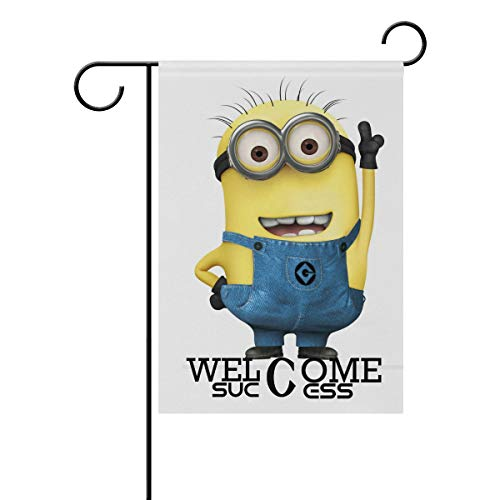 AfdsaswfvsJj Despicable Me Minions Cartoon Bob Welcome Garden Flag Vertical Double Sided Yard Flags Outdoor Decorative House Yard Flag 28x40 Inch Polyester Durable]()