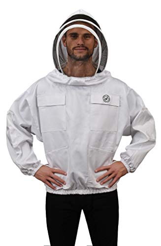 Humble Bee 511-L Polycotton Beekeeping Smock with Fencing Veil (Large)