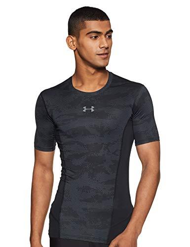(Under Armour Men's Heatgear Supervent 2.0 Short sleeve, Black /Graphite, Large)