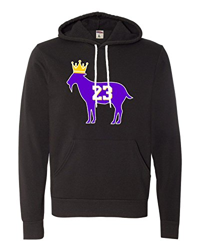 Small Black Adult Goat James G.O.A.T. King Deluxe Super Soft Sweatshirt Hoodie