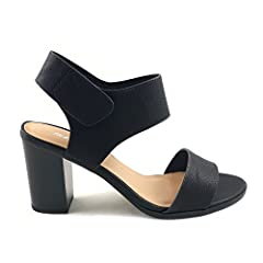 9434c8d6943 Topshoeave Wait Womens Open Toe Chunky Heel Ankle Strap Shoes .