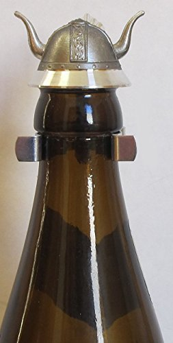 Viking Horn Helmet Beer Bottle Topper German Pewter Lid Made in Germany