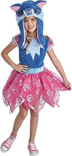Animal Jam Happy Rowdy Wolf Girl's Costume Large -