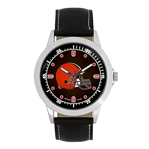 (NFL Cleveland Browns Mens Player Series Wrist Watch, Silver, One Size)
