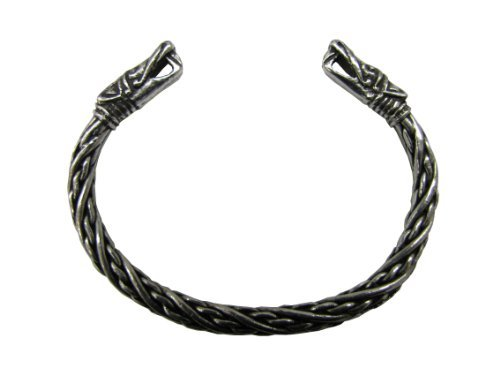 - Asgard Small Viking Pagan Gothic Pewter Dragon Bracelet