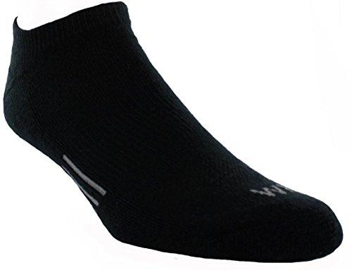Walter Hagen Men's Sport Golf Socks – 6 Pack (Black, L)