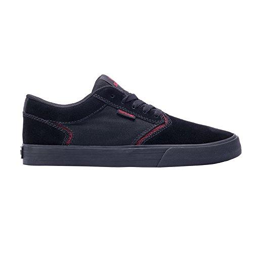 SUPRA Skateboard Shoes SHREDDER BLACK/RED-BLACK Size 13