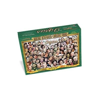 1950's Headline Newsmakers Jigsaw Puzzle – Nostalgic 65th or 70th Birthday or Anniversary – Made in USA: Toys & Games
