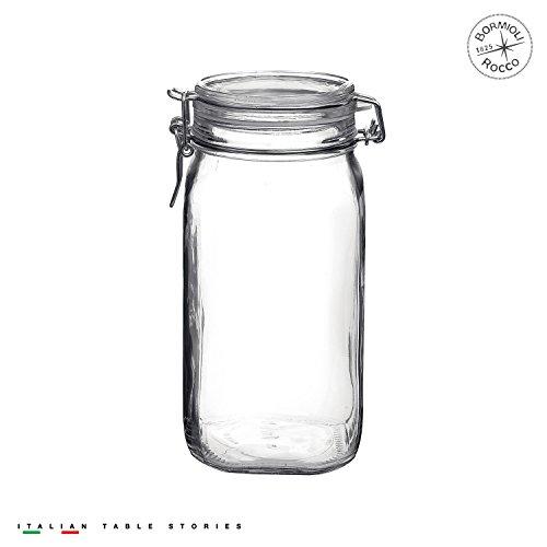Bormioli Rocco Fido Clear Jar, 50.75 Oz, 50.75 ()