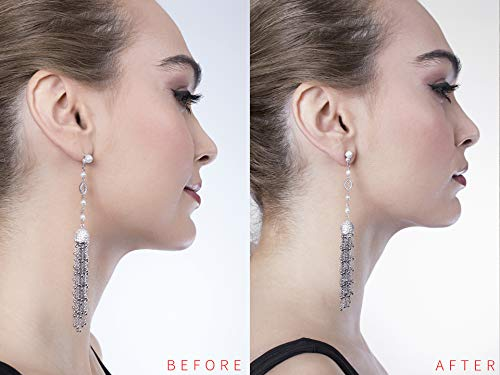 Earring Lifters .925 Sterling Silver 2 Pairs - Happy Ending for Sagging Earrings & Easy to Use! Adjustable & Hypoallergenic Earring Backs Support, Compatible with All Standart Earring Post! by LDYBRD (Image #2)