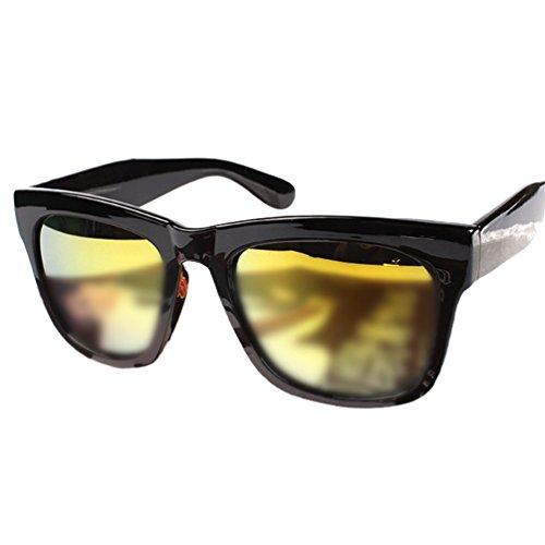 1or Lentille Protection Hommes Eyewear Métal Femmes Polarisées Noir de Cadre Wayfarer UV Soleil Lunettes Sunglasses Cadre LINNUO Pqtw0768q