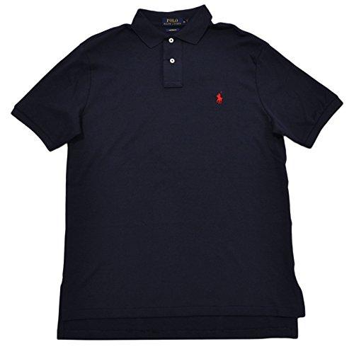 Interlock Polo (Polo Ralph Lauren Mens Custom Fit Interlock Polo Shirt (X-Large, River Navy))