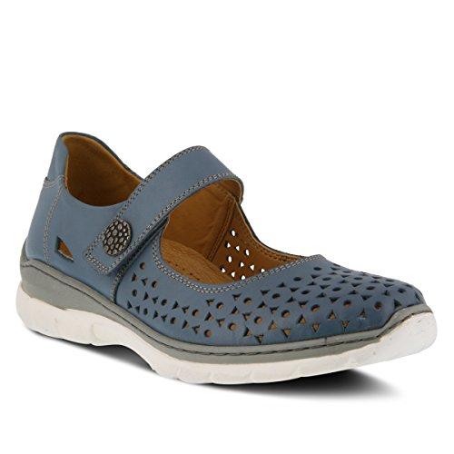 Våren Steg Womens Stil Malaika Läder Mary Jane Sko Blå