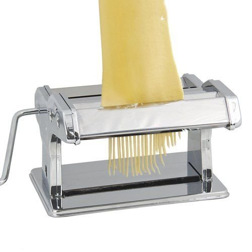 New 7'' Fresh Noodle Pasta Maker, Stainless Steel Dough Rolling & Cutting Machine