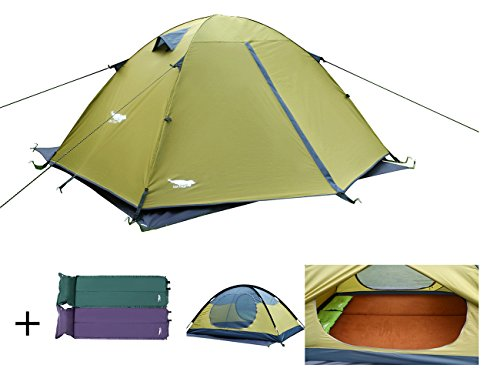 Luxe Tempo 2 Person Tents for C&ing Backpacking 3-4 Season 2 Doors 2 Vestibules Blue u2013 MK Library  sc 1 st  MK Library & Luxe Tempo 2 Person Tents for Camping Backpacking 3-4 Season 2 Doors ...