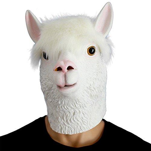 Child Mask Sheep (Jin the eu Novelty Halloween Party Latex Animal Dog Head Mask Alpaca Sheep For)