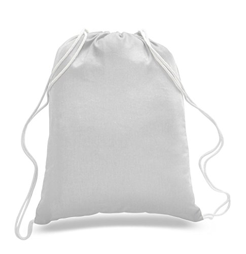 60 pieces - Cheap 100% Cotton Drawstring Bags by shop4bag