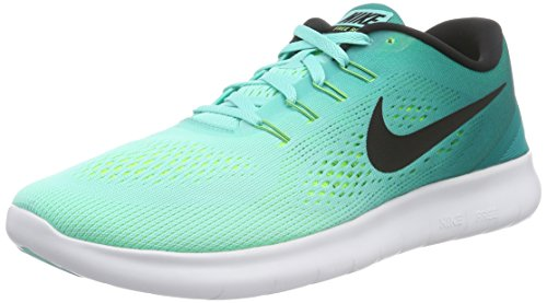 Nike free RN mens running trainers 831508 sneakers shoes (US 10, hyper turquoise blackvolt 300)