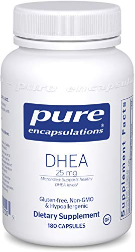 Pure Encapsulations - DHEA (Dehydroepiandrosterone) 25 mg - Micronized Hypoallergenic Supplement - 180 Capsules from Pure Encapsulations