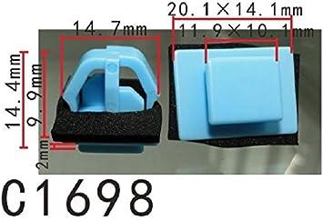 20 Door Body Side Moulding Clips Nut Fender Vent Grille Grommet Fits For Hyundai