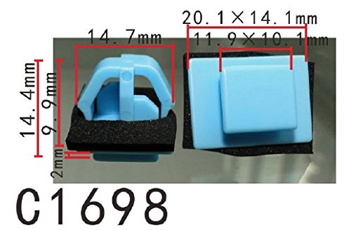 Door Panel Trim Retainer Clip with Sealer, for Hyundai Santa FE (Pack of 20) (Trim Santa)
