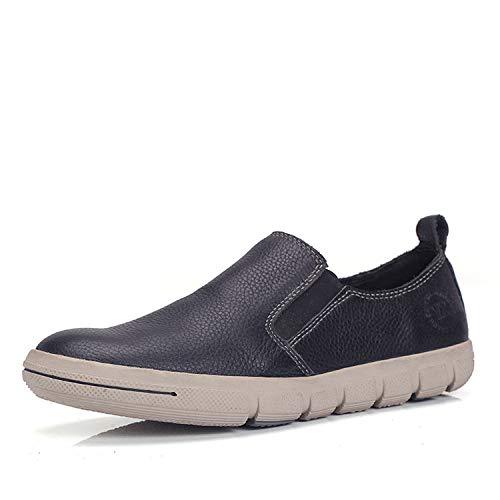 Qiusa Slip-on Loafers für Männer lässig weiche Sohle Nicht Slip lässig Männer atmungsaktiv langlebig Fahr Schuhe (Farbe : Rot, Größe : EU 42) Schwarz 9d13b7