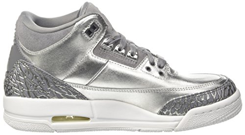 3 Silver Jordan Cool Prem Jordan 5 Basketball Retro HC Grey Women Shoe US Nike Metallic 7 Air Women's zpxndI4I