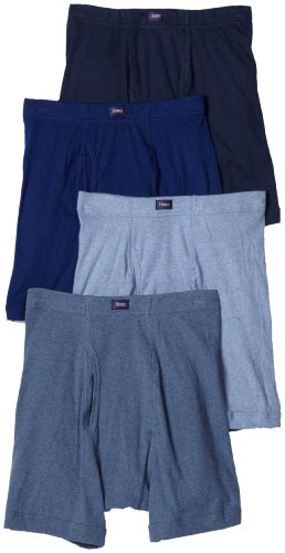 Hanes Men's Classics ComfortSoft Waistband Boxer Brief (Colors May Vary) (Pack of 4)