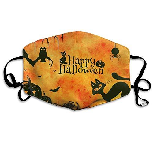 Tuoneng Halloween Holiday Pumpkin Cat Bat Spider Printed Mouth Masks Anti-dust Masks Reusable Face Mask]()